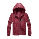 New Chic Star NIGHTCLUB Letter Printed Camo Embossed Long Sleeve Zip Up Burgundy Sports Track Jacket with Hood