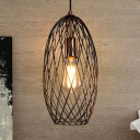 Metal Wire Mesh Ceiling Lamp Industrial Stylish 7