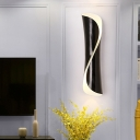 Black/White Twisted Surface Wall Sconce 21.5