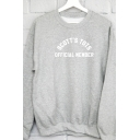 Unique Letter SCOTT'S TOTS OFFICIAL MEMBER Print Long Sleeve Pullover Sweatshirt