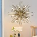 Modern Stylish Sputnik Wall Sconce 8 Heads Metal Golden Wall Mounted Light Fixture