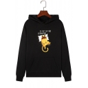 Lovely Sleeping Cat DO NOT DISTURB CATNAPPING Print Long-Sleeved Fleece Hoodie