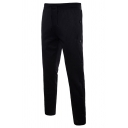 Mens Sport Running Drawstring Waist Side Button Embellished Solid Color Trousers