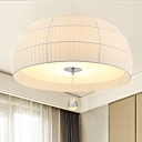 Minimalism Domed Hanging Light with Acrylic Diffuser 5 Lights Bedroom Chandelier Light Fixture in White