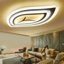Leaf Acrylic Ceiling Lamp Contemporary White 21.5