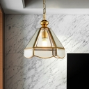 Clear Glass Scalloped Hanging Light Fixture Vintage 1 Light Dining Room Ceiling Pendant