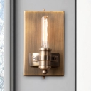Bare Bulb Bathroom Sconce Light Traditional Metal 1/2 Heads Bronze Wall Lighting Fixture