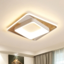Square Acrylic Ceiling Lamp Simple Style White 16