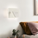 Modern Tube Reading Wall Light Metallic Led Bedroom Wall Mount Light in Black/White