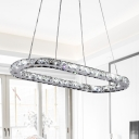 1/2 Tiers Chandelier Light Simple K9 Crystal Chrome 22
