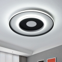 Loop Acrylic Ceiling Light Fixture Simple Black 18