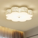 Blossom Flush Light Modern K9 Crystal Silver 12