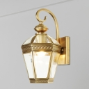 Metal Gold Sconce Light Fixture Geometric 1 Head Traditional Wall Mount Lamp for Indoor