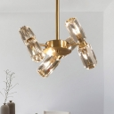 Gold Sputnik Chandelier Lamp Contemporary 6/8/10 Heads Faceted Crystal Ceiling Hanging Light