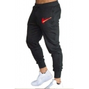 Creative Blood Pattern Drawstring Waist Sports Trousers Casual Sweatpants with Pocket