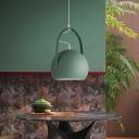 Minimalist Dome Pendant Lighting Fixture Metal 1 Light Dining Room Ceiling Light in Green