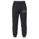 Active Flash and Glasses Pattern Drawstring Waist Loose Fit Casual Sweatpants