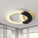 Black Arc Ceiling Light Modernism Acrylic 16