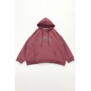 Simple Letter STANDARD Print Long Sleeve Oversized Pullover Boyfriend Hoodie