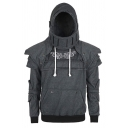 New Fashion Patterned Solid Color Retro Elbow Patch Medieval Armored Knight Hoodie