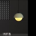 Metal Domed Pendant Lighting Modernism 1 Head Ceiling Suspension Lamp in Gray-Green/Beige for Bedroom