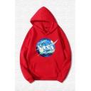 Unisex Popular NASA Galaxy Vortex Print Kangaroo Pocket Loose Pullover Hoodie