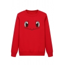 Cool Girls' Long Sleeve Crew Neck Spirit Patterned Loose Daily Pullover Sweatshirt
