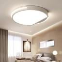 Round Acrylic Ceiling Light Fixture Nordic White 16