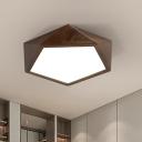 Modern Style Geometric Wood Flush Light Fixture 13