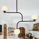 Art Deco Modo Pendant Lighting White Glass Indoor Hanging Chandelier Light for Restaurant