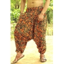 Ethnic Style Unique Circle Print Boho Hippie Harem Pants Baggy Fashion Trousers