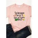 Funny TOY STORY LAND Letter Printed Short Sleeve Graphic T-Shirt