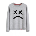 Casual Cozy Female Long Sleeve Round Neck Comic Printed Loose Pullover Sweatshirt