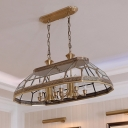 Candle Dining Room Ceiling Chandelier Colonial Clear Bevel Glass 12 Heads Brass Hanging Light Fixture