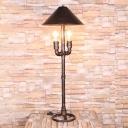 Metal Antique Style Bronze Table Lamp Conical 2 Lights Vintage Desk Light for Indoor