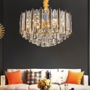 Tiered Chandelier Lighting Contemporary Crystal 19.5