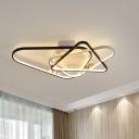 Black-White Triangle Ceiling Lamp Modern Acrylic LED Flush Mount Light, 33