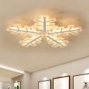 Snowflake Acrylic Ceiling Light Modern White 29.5