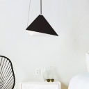 Conical Metal Ceiling Light Modern Style 1 Light Black Pendant Lamp for Dining Room