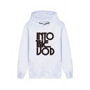 Creative Letter INTO THE Printed Long Sleeve Drawstring Hoodie with Dual Pockets