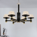 Tapered Ceiling Chandelier Contemporary Cut Crystal 27.5