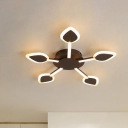 Sputnik Acrylic Ceiling Lighting Modern Brown 29.5