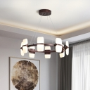 Metal Circle Chandelier Lamp Modernism 6/8 Lights 26
