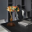 1 Light Reading Room Piano Lamp Tiffany Brass Standing Lamp with Dragonfly/Butterfly Stained Glass Shade