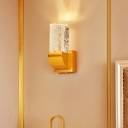 Brown/Gold Rectangle Wall Light Simple Bubble Crystal Living Room LED Wall Sconce Lighting