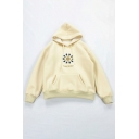 MAGIC RINGS Letter Print Long Sleeve Pouch Pocket Baggy Drawstring Graphic Hoodie