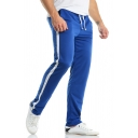 Mens Active Side Striped Drawstring Waist Straight Fit Casual Sweatpants