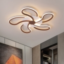 Windmill Acrylic Flush Light Fixture Simple Brown LED Ceiling Lamp in Warm/White Light, 31.5