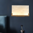 Rectangle Bedroom Sconce Light Traditional White Acrylic 1 Head LED Wall Lighting Fixture