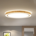 Contemporary Round Wood Flushmount 12